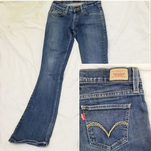 Levi's 524 Too Superlow Bootcut Denim Jeans 3M